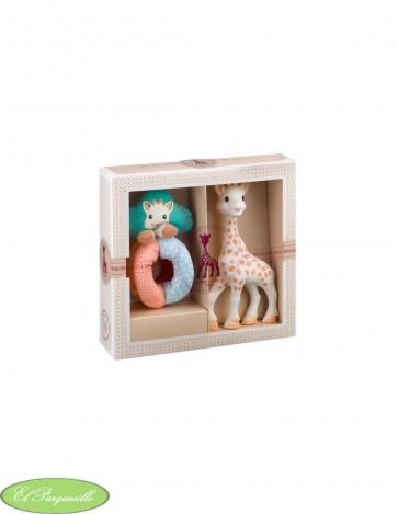 Pack regalo la girafe sophie + sonajero