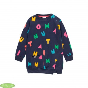 "Vestido felpa ""letras"" de niña"