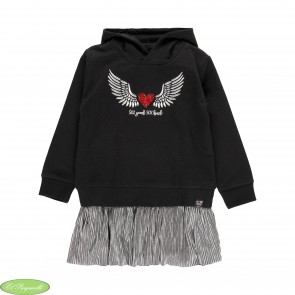 """Vestido felpa combinado """"alas"""""""