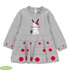 Vestido tricotosa topos