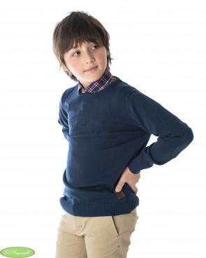 Jersey Spagnolo niño azul marino cuello caja