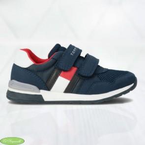 Zapatillas Tommy Hilfiguer azul marino con velcro para niños