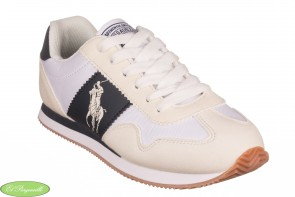 ZAPATILLA POLO RALPH LAUREN BIG PONY JOGGER NIÑO BLANCO